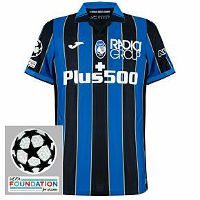 21-22 Atalanta Home Shirt + UCL Patches