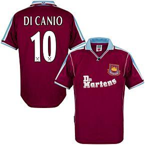 2000 West Ham Utd Home Retro Shirt + Di Canio 10 (Retro Flex Printing)