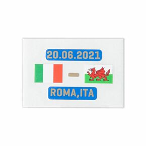 Official Euro 2020 Matchday Transfer Italy v Wales 2006.2021 (Italy Away)