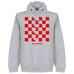 Croatia Hvala Vatreni Homecoming Hoodie - Grey