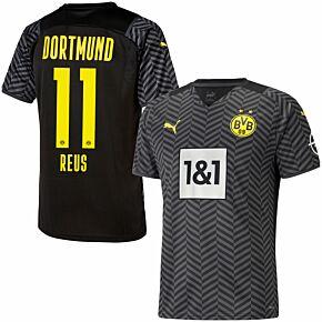 21-22 Borussia Dortmund Away Shirt + Reus 11 (Official Printing)