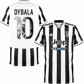 21-22 Juventus Home Shirt + Dybala 10 (Gallery Style)