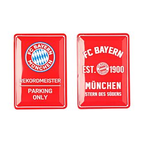 Bayern Munich 2 Metal Signs (21 x 15cm Approx)