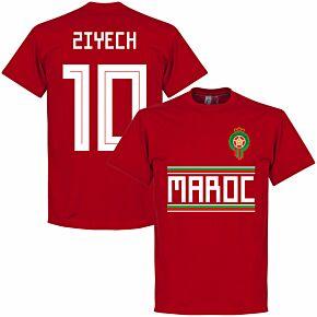 Morocco Ziyech 10 Team Tee - Red