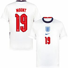 20-21 England Home Shirt + Mount 19 (Official Printing)