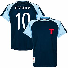 Okawa Toho 2 Newteam Official Shirt + Hyuga 10 (Retro Flock Printing)