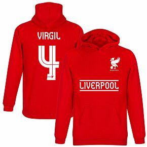 Liverpool Virgil 4 Team KDIS Hoodie - Red