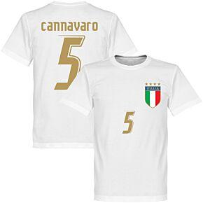 2006 Italy Cannavaro Tee - White