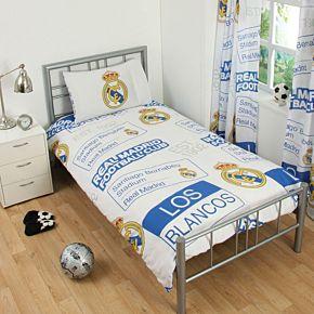 "Real Madrid Patch Single Duvet Set (Duvet = 53"" x 79"") (Pillow Case 20"" x 30"")"