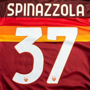 Spinazzola 37 (Official Printing) - 20-21 AS Roma Home