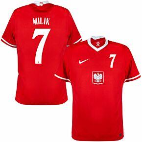20-21 Poland Away Shirt + Milik 7 (Official Printing)