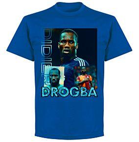 Drogba Old-Skool Hero T-Shirt- Royal