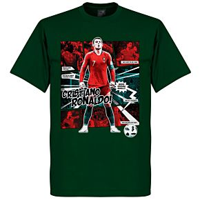 Ronaldo Comic T-Shirt - Bottle Green