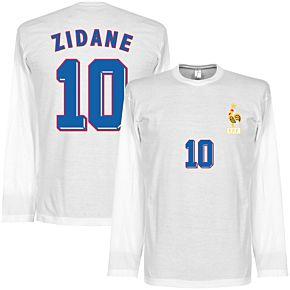 Zidane 1998 Away L/S Tee -  White