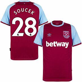 20-21 West Ham Home Shirt + Soucek 28 (Premier League Printing)