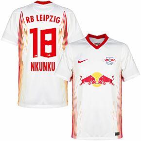 20-21 RB Leipzig Home Shirt + Nkunku 18 (Official Printing)
