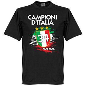 Juventus Campioni D'Italia 34 Tee - Black
