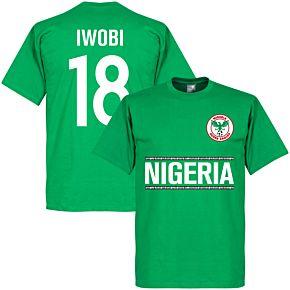 Nigeria Iwobi 18 Team Tee - Green