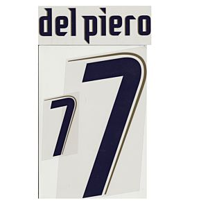 Del Piero 7 - 06-07 Italy Away Official Name & Number