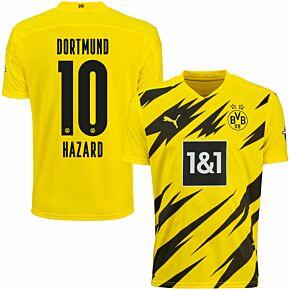 20-21 Borussia Dortmund Home Shirt + Hazard 10
