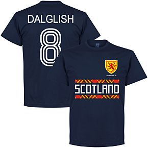 Scotland Retro 78 Dalglish 8 Team Tee - Navy