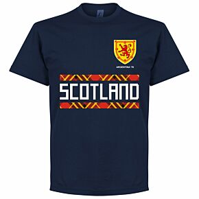 Scotland Retro 78 Team Tee - Navy