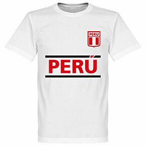 Peru Team Tee - White