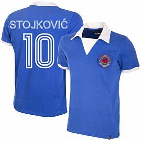 80-81Yugoslavia Home Retro Shirt + Stojković 10 (Retro Flock Printing)