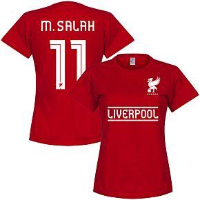 Liverpool M. Salah 11 Team Womens Tee - Red