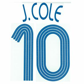 J.Cole 10 - 06-07 Chelsea Away Euro Official Name and Number Transfer
