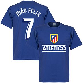 Atletico Madrid Joao Felix 7 Team Tee - Royal