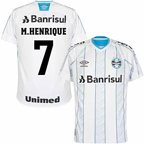 20-21 Gremio Away Shirt + M. Henrique 7 (Fan Style Printing)