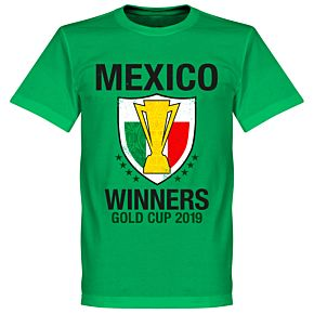 Mexico 2019 Gold Cup Winners T-Shirt - Green