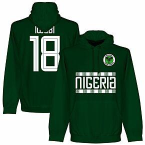 Nigeria Iwobi 18 Team Hoodie - Bottle Green