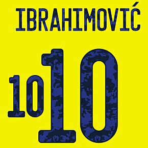Ibrahimovic 10 - 20-21 Sweden Home Official