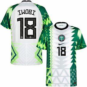 20-21 Nigeria Vapor Match Home Shirt + Iwobi 18 (Official Printing)