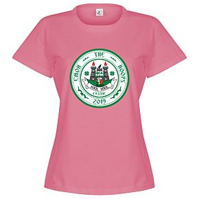 C'mon the Hoops Celtic Crest Womens Tee - Pink