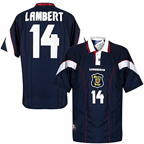 Umbro Scotland 1996-1998 Home Lambert 14 Shirt NEW (w/tags) Condition (Excellent) - Size XL