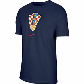 20-21 Croatia Crest T-shirt - Navy