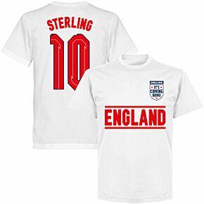 England Sterling 10 Team KIDS T-shirt - White