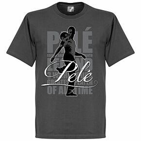 Pele Legend Tee - Dark Grey