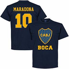 Boca Maradona 10 CABJ Crest Tee - Navy