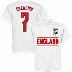 England Grealish 7 Team KIDS T-shirt - White