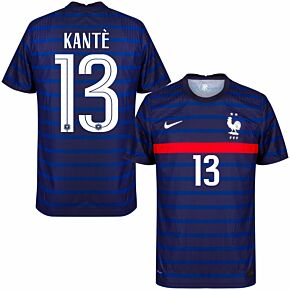 20-21 France Vapor Match Home Shirt + Kantè 13 (Official Printing)