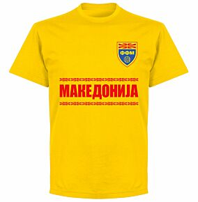 Macedonia Team T-shirt - Yellow