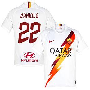 19-20 AS Roma Away Shirt + Zaniolo 22 (Fan Style)