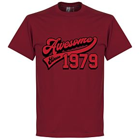 Awesome Since 1979 Tee - Red
