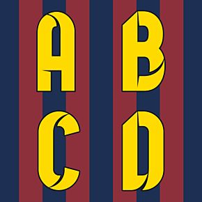 Barcelona Home Official Individual Letters 2014 / 2015