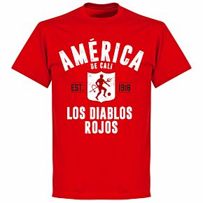 America de Cali EstablishedT-Shirt - Red