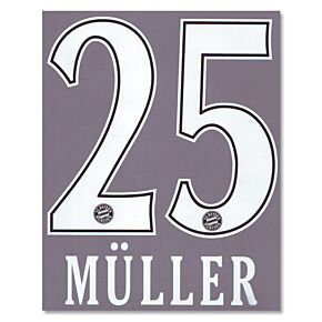 Müller 25 - 10-11 Bayern Munich Home BOYS Official Name and Number